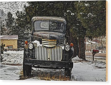 After The Snow Falls Wood Print by Ken Smith