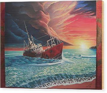 After The Storm Wood Print by Alejandro Del Valle