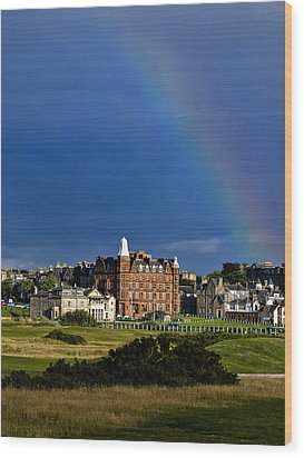 Wood Print featuring the photograph After The Storm At St. Andrews Golf Old Course Scotland by Sally Ross