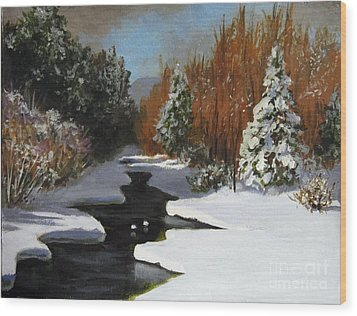Wood Print featuring the painting After The Storm by Carol Hart