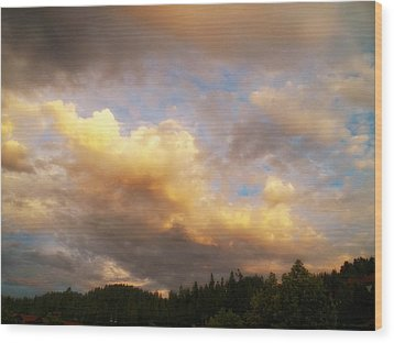 After The Storm -  Lake Arrowhead Wood Print by Glenn McCarthy Art and Photography