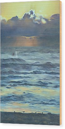 Wood Print featuring the painting After The Storm by Lori Brackett