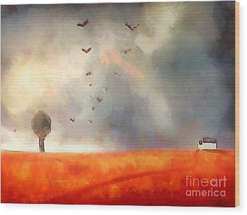After The Storm Wood Print by Pixel Chimp