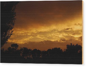 Wood Print featuring the photograph After The Storm by Ramona Whiteaker