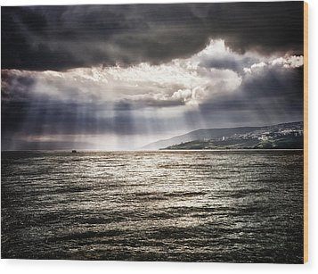 After The Storm Sea Of Galilee Israel Wood Print by Mark Fuller
