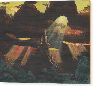 After The Storm Wood Print by Timithy L Gordon