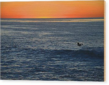 After The Sunset Glow In La Jolla Wood Print by Sharon Soberon