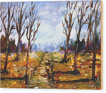 Afterblown Forrest Wood Print by Constantinos Charalampopoulos