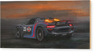 Afterburners On Wood Print
