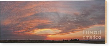 Wood Print featuring the photograph Afterglow by Charles Kozierok