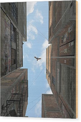Afternoon Alley Wood Print by Cynthia Decker