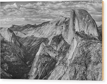 Afternoon At Half Dome Wood Print by Harry H Hicklin