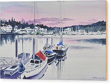 Afternoon Gig Harbor Wood Print