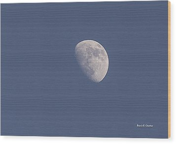 Afternoon Half Moon Wood Print by Angela A Stanton
