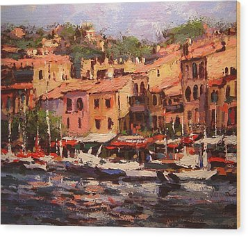 Afternoon In Cassis Wood Print by R W Goetting