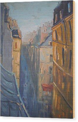 Afternoon In Rue Leopold Bellan Wood Print by NatikArt Creations