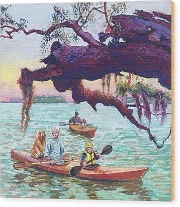 Afternoon Kayak Wood Print