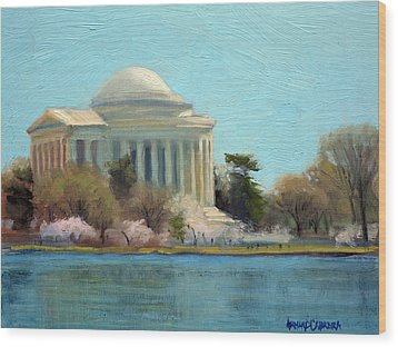 Afternoon Light Jefferson Memorial Wood Print