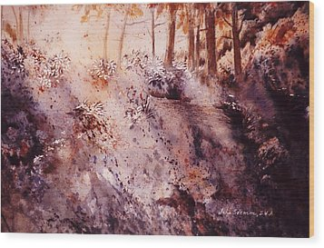 Wood Print featuring the painting Afternoon Light by John  Svenson
