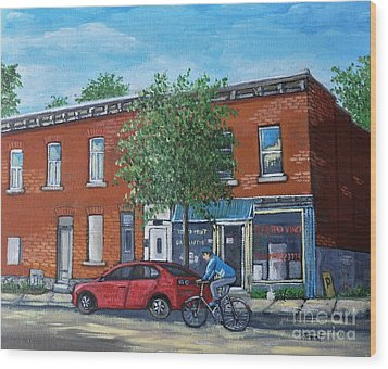 Afternoon Ride Pointe St Charles Wood Print by Reb Frost