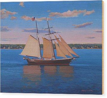 Afternoon Sail Wood Print by Dianne Panarelli Miller