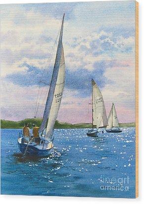 Afternoon Sail Wood Print by Karol Wyckoff