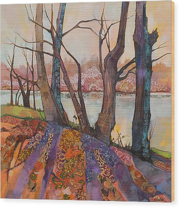 Afternoon Shadows Wood Print by Marty Husted