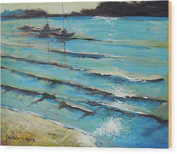 Afternoon Shoreline Wood Print by Dan Whittemore