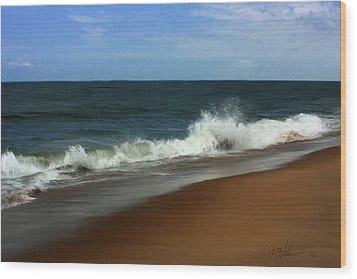 Afternoon Surf Wood Print by Forest Stiltner