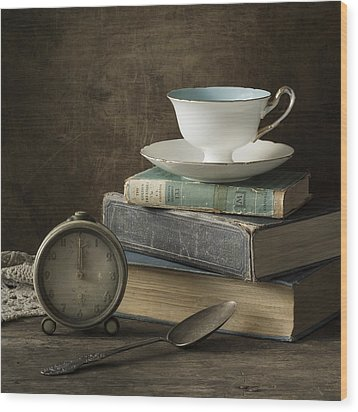 Afternoon Tea Wood Print by Amy Weiss