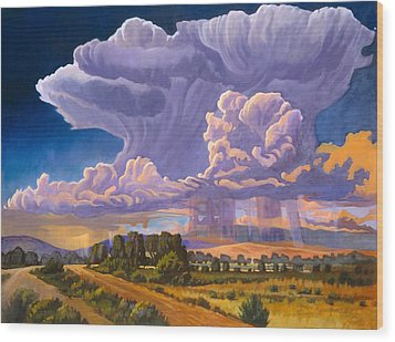 Wood Print featuring the painting Afternoon Thunder by Art James West