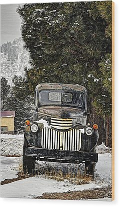 Afther The Snow Falls Verticle Wood Print by Ken Smith