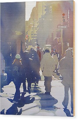 Against The Light Wood Print by Kris Parins