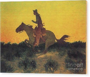 Against The Sunset Wood Print by Pg Reproductions