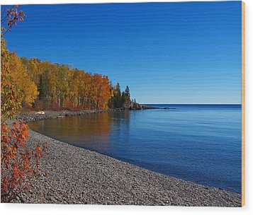 Agate Beach On Lake Superior Wood Print by Steve Anderson