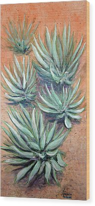 Agave Wood Print by Kenny Henson