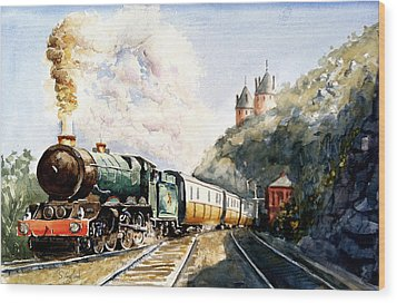 Wood Print featuring the painting Age Of Steam by Steven Ponsford
