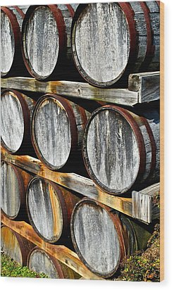 Aged Wine Wood Print by Frozen in Time Fine Art Photography