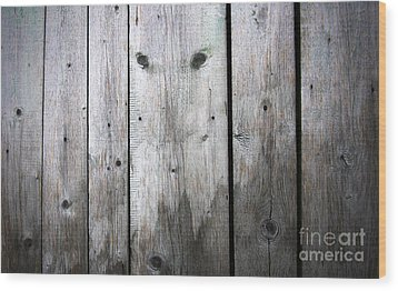 Aged Wood Boards Wood Print by Jolanta Meskauskiene