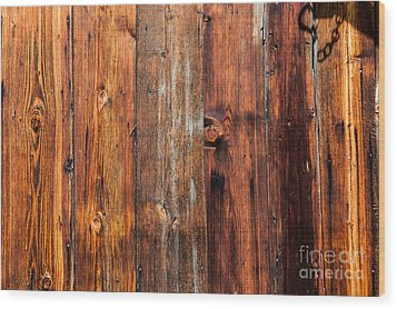 Aged Wood Wood Print by Charles Lupica