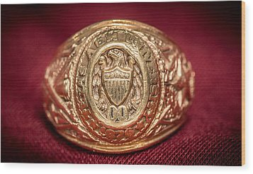 Aggie Ring Wood Print