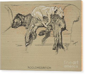 Agglomeration Wood Print by Cecil Charles Windsor Aldin