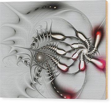 Aggressive Grey Wood Print by Anastasiya Malakhova
