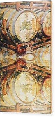 Aging Barrels Wood Print by PainterArtist FIN