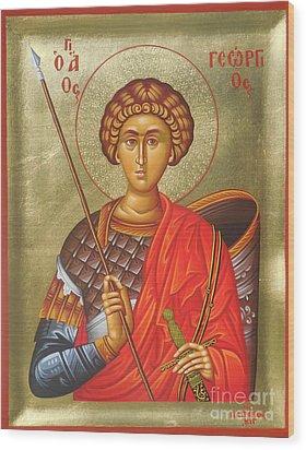 Agios Georgios - Saint George Wood Print by Theodoros Patrinos