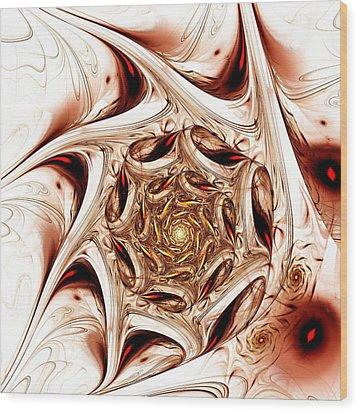 Agitation Wood Print by Anastasiya Malakhova