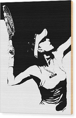 Agnieszka Radwanska Wood Print