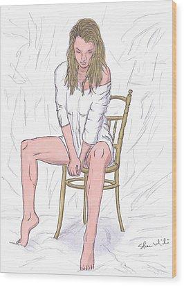Agnieszka Wood Print by Steven White