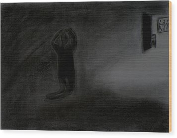 Agony Of The Outside World 1 Wood Print