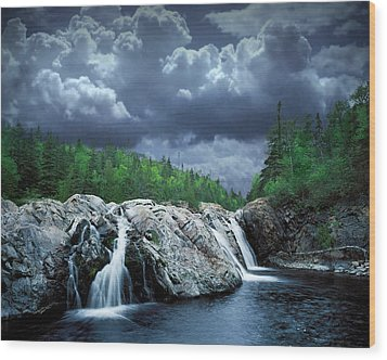 Aguasabon River Mouth Wood Print by Randall Nyhof